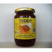 Μέλι ανθέων-κωνοφόρων 970 γρ.  ( γυάλινο βαζάκι)